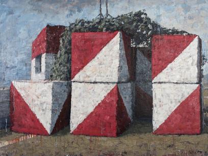 Omar-Fakhoury-Self-Defense-2014-Acrylic-on-Canvas-71h-x-94-dot-5w-in-180h-x-240w-cm-slash
