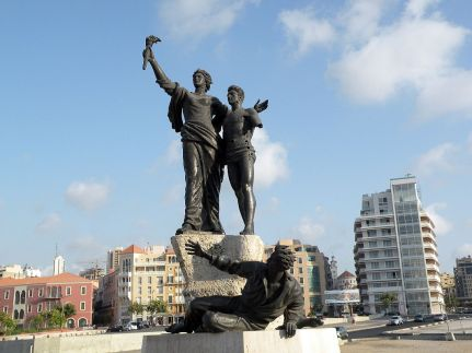 Beirut 06 Martyrs Square Statue